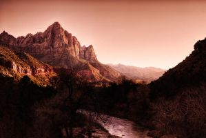Zion at Sunset by rickbattle
