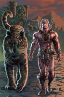 He-Man and Battle Cat-Colored by PatC-14