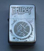 HELLBOY - engraved lighter by Piciuu