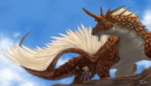 Dragon and Knight by jotter