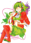 . Splashed Colors. Adult MEGPOID GUMI . by AsuHan