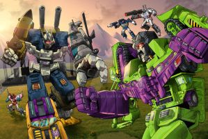 Bruticus vs Devastator - Contest Iacon 2015 by Whelljeck