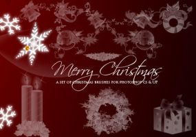 Christmas Brushes 2010 by fiftyfivepixels