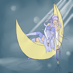 Stephie-boo's Moonie: Art Trade by Caliphos