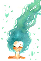 Watercolor hair by tea-of-love