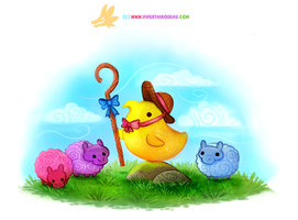 Daily Paint #1222. Little Bo Peeps by Cryptid-Creations