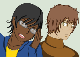 Hetalia OCs- Niagara Falls, NY and Lewiston, NY by MapleBeer-Shipper
