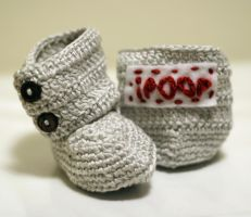 iPoop funny baby booties by Knitnutbyjl