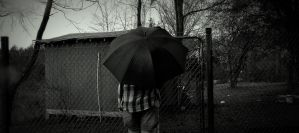 Umbrella Black and White by Lace93