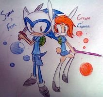 Sonic and Cream . Cosplay . Finn and Fionna by shadcream4eva