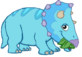 Tank Triceratops Eating Vector by DigiPonyTheDigimon