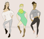 Fashionable Girl Adoptables OPEN by Blockbeap