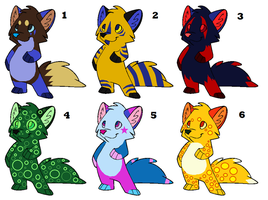 Free Wolf/Fox Adopts -Closed- by CrimzonAdopts