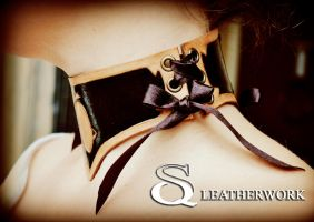 Hot Chocolate Collar by SqLeatherwork