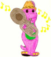 Barney Playing The Tuba by BestBarneyFan