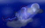 Relaxing in your own moonlight... by thelonedragonwolf