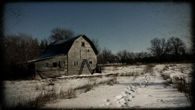 lonely barn  by RougeEmpires