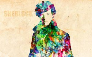 SHERLOCK HOLMES: Watercolor Effect by ElijahVD
