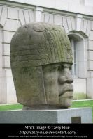 Olmec Head Stock by Cassy-Blue