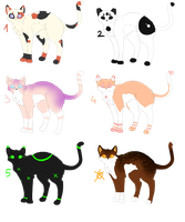 Cat Adoptables by ziikra
