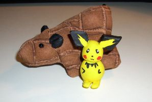 Tiny Pichu Clay Art by kratosisy