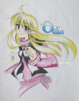 OC - Odin, colorpencils:: by gmLEN