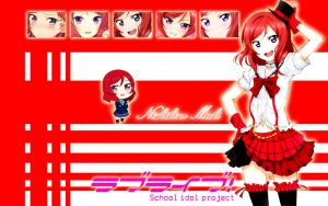 Maki Nishikino Desktop Wallpaper by nikkiipyon