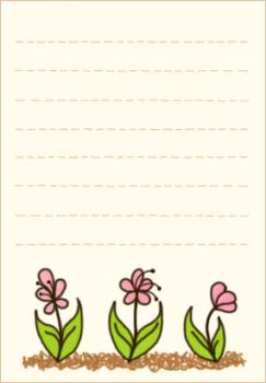 Free Memo Stationary Pink Flowers by Somniculosa
