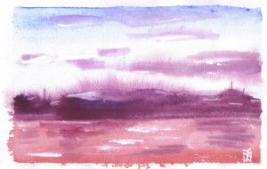 Purple Sky by ashkara2001