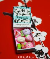 Wagashi 1:12 miniature box by tinkypinky