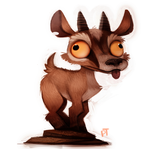 Day 565. OH MY GOD A GOAT by Cryptid-Creations