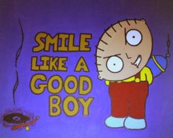 Smile Stewie by Chick-with-a-pencil