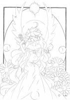 Sainte Mere .:lineart:. by Angelic-Blossoms