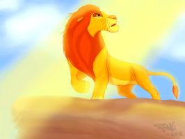 King of Pride Rock by Candentia
