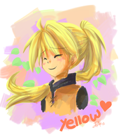 Yellow doodle painting by yassui