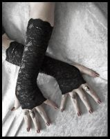 Kala Lace Arm Warmers by ZenAndCoffee