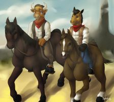 Horse riding by Siplick