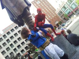 Spidey is Scared of Heights lol by Crowbariswin