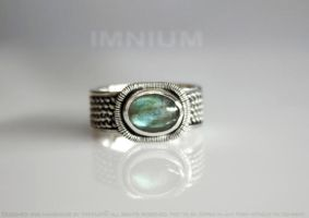 One very small ring with labradorite by IMNIUM
