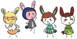 my lame tiny bunnies doodle by tsaaif