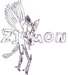 Zizmon -Not in color...- by Pokemonster