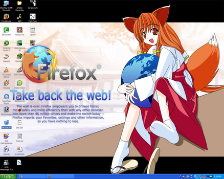 Firefox-tan CUTIE Wallpaper by Nasu-San