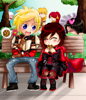 RWBY Ruby and Jaune by Anchuan