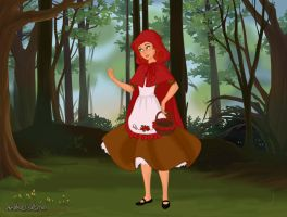 Maddy as Red Riding Hood by Lizlovestoons12