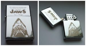 JAWS - engraved lighter by Piciuu