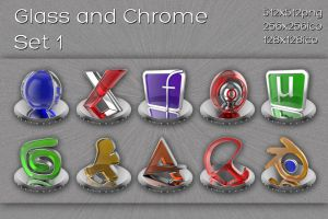 glass and chrome icons   set 1 by xylomon