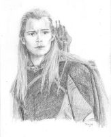 Legolas at Amon Hen by Powerfulwoodelf