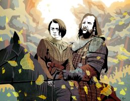 Arya Stark and the Hound by Balkoth26