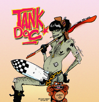 Just Murdoc being Tank Girl by DustyOld-Clock