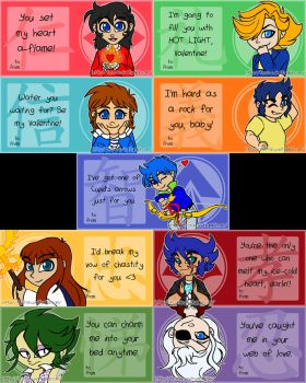 Ronin Warriors Valentines Cards by TCStarwind